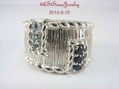 Retired Judith Ripka Sterling Silver 925 Sapphire & Blue Topaz Ring Size…