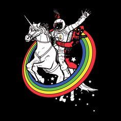 Marvel Comics: Deadpool / Epic Combo #23 mashup t-shirt.  #marvel #deadpool #astronaut #unicorn