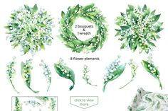 Lily of the Valley watercolor - Illustrations