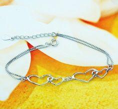 925 Sterling Silver Fashion Bracelet with Platinum Plated925 Silver Bracelet