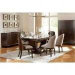 Broyhill - Pinstripe Dining Pedestal Table - 8050-531STS   SPECIAL PRICE: $1,036.95