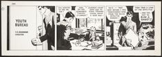 rodrigobaeza: Noel Sickles:Gar Landon comic strips tryout... rodrigobaeza:  Noel Sickles:Gar Landon comic strips tryout original art (1960s)