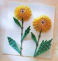 3D Origami - Sunflower Portrait