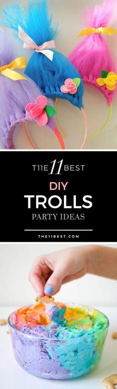 Die 11 besten Trolle Party Ideen - The 11 Best Trolls Party Ideas DIY Trolle Party Ideen. Trolls Party, Trolls Birthday Party, 4th Birthday Parties, Birthday Diy, Girl Birthday, Birthday Ideas, Cake Birthday, Fete Emma, Diy Party