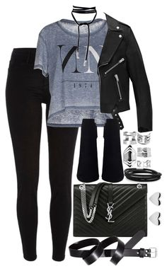 """Untitled #166"" by marinas-clothes ❤ liked on Polyvore featuring River Island, ONLY, Yves Saint Laurent, H&M, BillyTheTree and Boohoo"