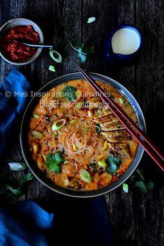 Soupe Thaï (poulet, lait de coco et curry rouge) | Le Blog cuisine de Samar