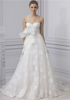 Monique Lhuillier Wedding Dresses - The Knot, this would look awful on me, but I love it anyway.