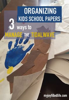Are you completely overwhelmed by your kids school papers and artwork? I've so been there! Here are some of the changes I'm making to stay on top of the tidal wave!
