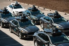A fleet of self-driving Uber cars lines up outside of Uber Advanced Technologies… Uber Car, Uber Ride, Futuristic Cars, Futuristic Vehicles, Creativity And Innovation, Self Driving, Car Ins, Pittsburgh, Detroit