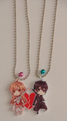 Couple Sword Art Online Necklace!
