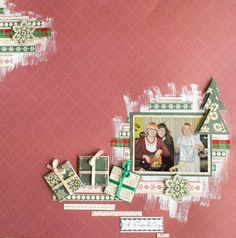 Christmas LO made by Katrina. Base paper: Winter Elegance #5