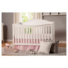 I like this crib. It has four heights, turns into a toddler bed AND with attachments it turns into a twin bed