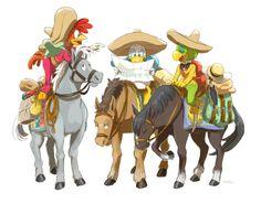 Dラクガキまとめ2 The Three Caballeros fanart ,Donald Duck,Jose Carioca, Panchito Pistoles, Pixiv