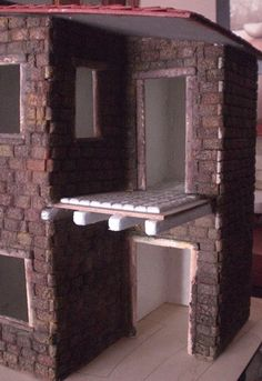 Foro de Belenismo - Paso a paso -> Una casita para el belen Liliana, Home Decor, Rustic Homes, Roof Tiles, Nativity Sets, Birth, Flats, Felting, Xmas