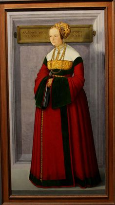 Cristoph Amberger, wrap around or flap like the Anne of Cleves dress on the Hobelein painting