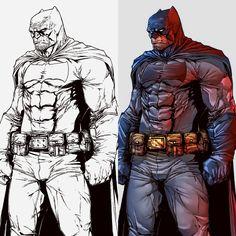The Dark Knight colors by le0arts.deviantart.com on @DeviantArt