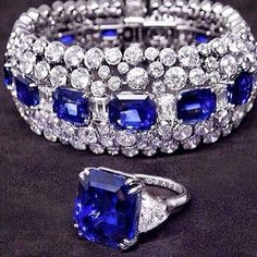 @conrad_london_jewels. Sapphires  and diamonds  oh yes I'll take them all  #sapphires #diamonds #statementbracelet
