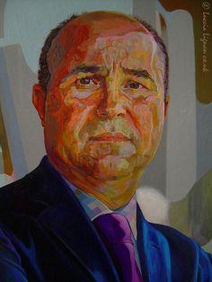 Portrait Painting . Detail II .  Acrylic on Board . 95cm x 110cm .