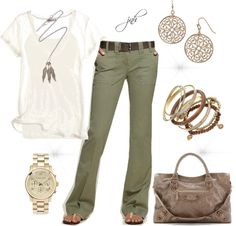 Leggings verde oliva con una larga camisa boho blanca o con hombros descubiertos . Spring Summer Fashion, Spring Outfits, Autumn Fashion, Late Summer Outfits, Outfit Summer, Summer Clothes, Mode Outfits, Fashion Outfits, Womens Fashion