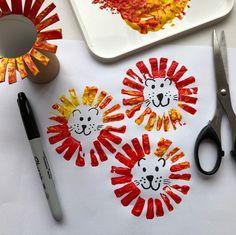 Lion Print, Kindergarten Art, Crafts For Kids, Craft Kids, Art Techniques, Little Ones, Canning, Instagram Posts, Prints