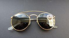 B&L Ray Ban Round Metal Sunglasses W1345  Brand New by Raybanicos, $185.00