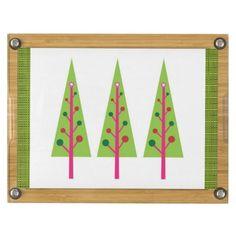 Christmas Trees Cheese Board Rectangular Cheese Board  #Tree #Christmas #CheeseBoard