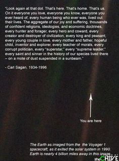 You are here: Pale Blue Dot