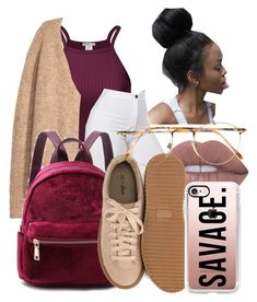 """just because."" by kittycupkake001 ❤ liked on Polyvore featuring H&M, Lime Crime, Nly Shoes, Persol and Casetify"