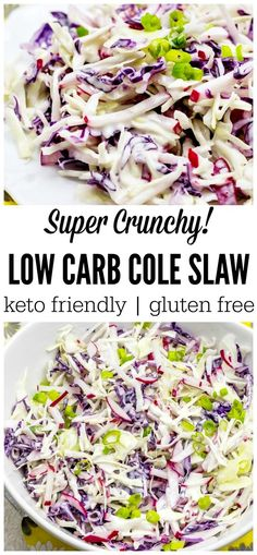 This super easy low carb cole slaw has just the right amount of sweet, spice and crunch to satisfy any summer salad craving! Perfect for your next BBQ.