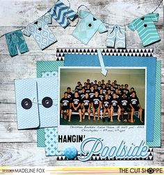 """The Cut Shoppe: Hangin' Poolside by Madeline Fox uses the """"Boy's Rule"""" and """"Girl Stuff"""" cut files."""
