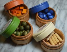 Pretend Baby Food Sorting Counting Wooden by HouseMountainNatural