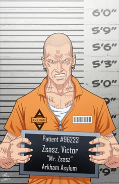 Commissioned by Roy Westerman Roysovitch Concept/Design also by Roy Westerman Victor Zsasz locked up Comic Villains, Dc Comics Characters, Dc Comics Art, Batman Sidekicks, Victor Zsasz, Hq Dc, Batman Universe, Dc Universe, Arkham Asylum