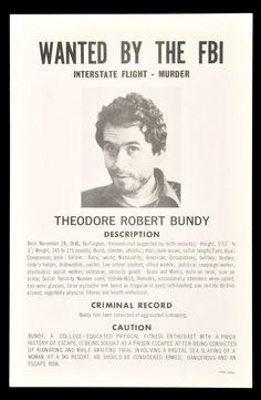 1978 FBI Wanted Poster for Serial Killer Ted Bundy