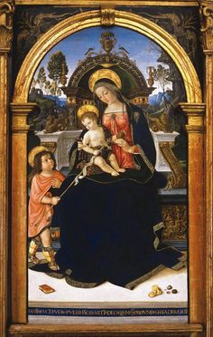 Pinturicchio (Bernardino di Betto), Santa Maria dei Fossi Altarpiece, 1496-1498, tempera on panel. Galleria Nazionale dell'Umbria, Perugia.