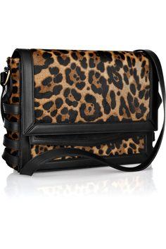 Christian Louboutin|Farida leopard-print calf hair shoulder bag|NET-A-PORTER.COM