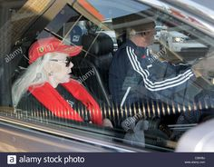 Download this stock image: Zsa Zsa Gabor and her ninth husband Prince Frederic Von Anhalt driving out of a medical building in Beverly Hills. Los Angeles, - C26XBJ from Alamy's library of millions of high resolution stock photos, illustrations and vectors.