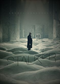 Stalker is the story of a troubled man who guides people into a perilous no-mans land as they seek to satisfy their innermost desires.