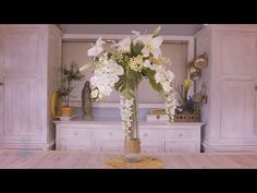 Wisteria, Lily and Orchid Floristry Arrangement - YouTube