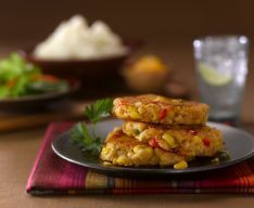 For leftover mashed potatos  Idaho Potato Commission - Recipes: Southwest Corn and Idaho® Potato Cakes