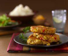For leftover mashed potatos  Idaho Potato Commission - Recipes: Southwest Corn and Idaho® Potato Cakes