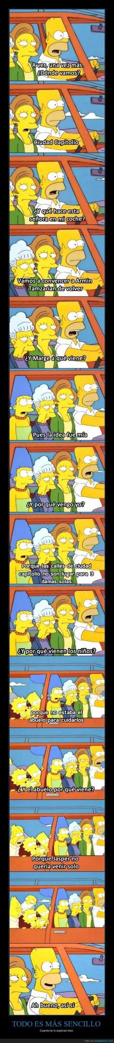 Homer Simpson no entiende nada