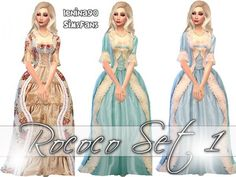 Rococo historical gowns - The Sims 4 Catalog Rococo Dress, Southern Belle Dress, Maxis, Sims4 Clothes, Sims 4 Dresses, Sims 4 Mm Cc, Sims 4 Game, Royal Dresses, Sims 4 Update