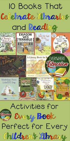 School and public librarians - this bundle is for you! Celebrate and share your love for libraries and reading with this 10 Picture Book Activity Pack Bundle. School Library Lessons, Library Lesson Plans, Elementary School Library, Library Skills, Library Books, Library Ideas, Children's Books, Kindergarten Library, Dream Library