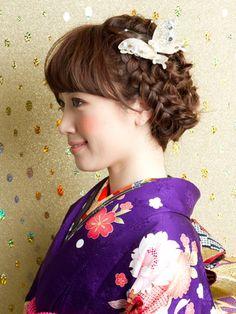 「成人式にぴったりの編み込みを取り入れた髪型カタログ」のまとめ2枚目の画像 | mery [メリー] - 女の子のためのキュレーションメディア