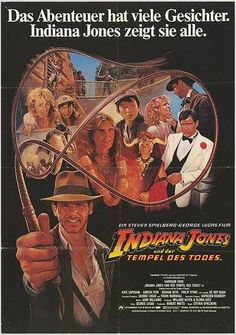 German movie poster for Indiana Jones and the Temple of Doom