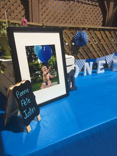 Boy Blue, First Birthdays, Baby Boy, Frame, Decor, Happy Name Day, Decorating, First Anniversary, Inredning