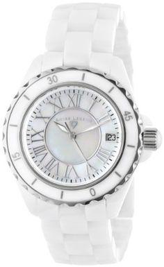 "Swiss Legend Women's 20050-WWSR ""Karamica Collection"" Stainless Steel Watch with White Ceramic Bracelet Swiss Legend"