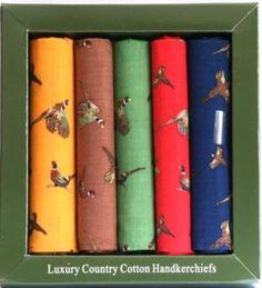 Pheasant shooting Design Handkerchiefs - £19.99