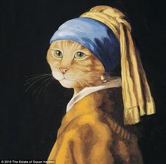 İngiliz Ressamın ünlü tabloları Kedi figürüyle yeniden yorumladı - Haber, Haberler, Son Dakika, En Son Haber
