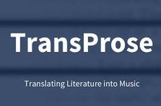 """TransProse """"traduce"""" la literatura en música. Los responsables de este software son Hannah Davis, programador, artista y músico de Nueva..."""